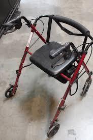 walgreens ultra light weight burgundy rollator transport chair
