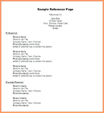 References Page Resume Example On A How To Put Write Letsdeliver Co
