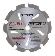 tenryu blades. tenryu bp-18505 7-1/4 board pro plus fiber cement blade 5t blades