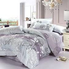purple and grey bedding sets fl collection 4 piece gray purple fl duvet covers
