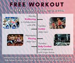 free workouts at the star vista 2019