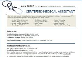 Medical Assistant Resume Template Free Delectable Resume And Cover Letter Medical Assistant Resume Samples Free