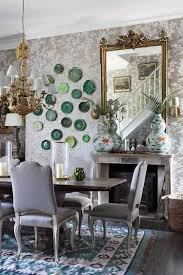 shabby chic dining room furniture beautiful pictures. View In Gallery Floral Wallpaper From Ralph Lauren Sets The Tone For A Stylish, Shabby Chic Dining Space Room Furniture Beautiful Pictures H