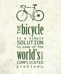 Bike Quotes Impressive The Bicycle Is A Simple Solution Quote Picture
