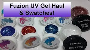 Fuzion UV Gel Haul & Swatches | Nail Art - YouTube