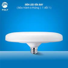 Bóng đèn led tròn UFO ánh sáng trắng, tiết kiệm điện công suất cao  18W-24W-36W-50W, đuôi vít xoắn E27-DDB chính hãng 42,000đ