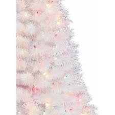 White Tree Colored Lights Indiana Spruce 4 Ft Artificial Pre Lit Multi Color Lights White Christmas Tree