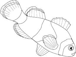 Coloring Pictures Of Fish Clown Fish Coloring Page Fish Template To