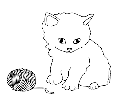 Free Kittens Playing Coloring Pages Printable Coloring Pages Of