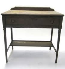 simmons metal furniture. vtg antique 1920s 1930s simmons metal wood look fireproof furniture desk drawer