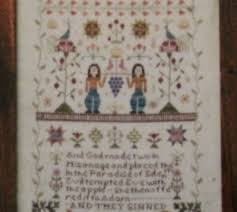 And They Sinned Cross Stitch Chart And They Sinned By Examplar Dames Design Co Ebay
