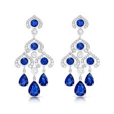 blue sapphire and diamond chandelier earrings fabergé blue sapphire chandelier earrings