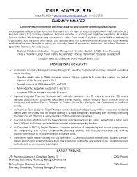 Ultimate Sample Resume Pharmacist Manager Also Pharmacy Manager