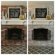 don t like your dark red fireplace white wash the brick