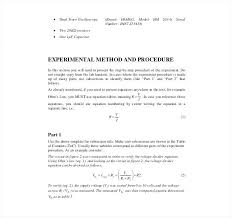 Engineering Technical Report Template Engineering Report Format Template Engineering Lab Report Template