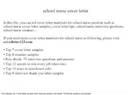 Sample Cover Letter For Nurse Nursing Cover Letter Sample Cover