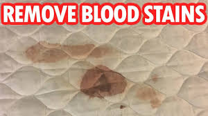 how to get blood out of mattress using