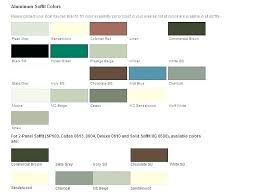 Aluminum Siding Colors Chart Certainteed Soffit Jdpart Co