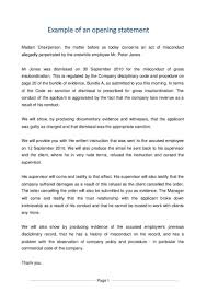 example of an opening statement document labour law south page