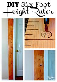 Diy Height Chart Diy Six Foot Height Ruler Rhythms Of Play