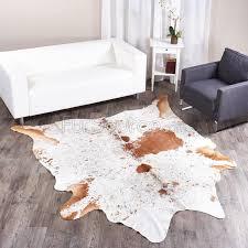 xl brown white brazilian cowhide rug 013 41 4 sq ft