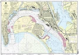 Amazon Com Noaa 18773 San Diego Bay Fishing Charts And