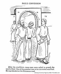 The Apostles Coloring Pages Paul On The Damascas Road Bible