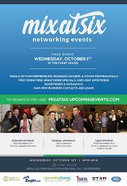 Mix At Six Networking Event At The Chart House Tickets