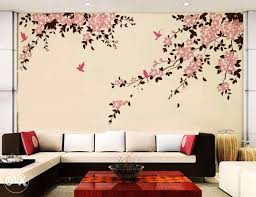 Wall Paint Designs For Living Room Inspiring nifty Wall Paintings Designs  Living Room Living Room Model