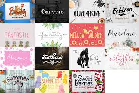 collage fonts free free font bundle thehungryjpeg com