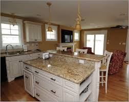 Counter Height Cabinet Bathroom White Kitchen Cabinet And Colonial Cream Granite