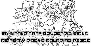 Small Picture Coloring Pages of My Little Pony Equestria Girls Rainbow Rocks