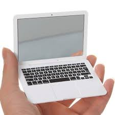 <b>Cute MAKEUP Mini Pocket</b> Laptop Style Clear Glass Women ...