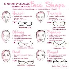 Face Shape Chart Find The Perfect Glasses For Your Face Shape Fashion