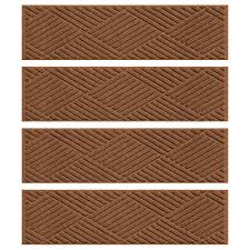 aqua shield dark brown 8 5 in x 30 in diamonds stair tread cover