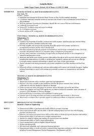 Technical Services Representative Resume Samples Velvet Jobs