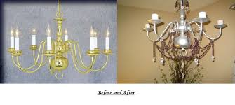 picture of diy electric to candle chandelier up cycle