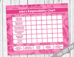 Teenage Allowance Chart Teen Chore Chart Teen Chore Chart Sugarpickle Designs