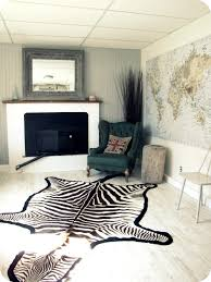 charming faux zebra rug for interior floor decoration black and white faux zebra rug for