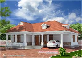1850 Sq Feet Kerala Style Home Elevation Newbrough House Plans In Kerala On Kerala Style Single Storied House Plan And