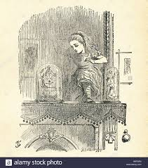 man looking in mirror drawing. stock photo - this illustration of alice poking poke the looking glass ( mirror) and seeing an old man in clock , not actual as room she mirror drawing