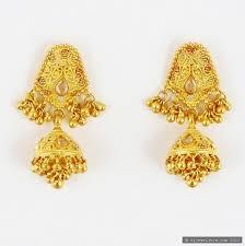 model earring set indian women wear gold tone chandelier jewelry