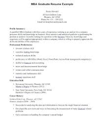 Mba Resume Format Beauteous Mba Cover Letters Best Resume Format For Application Samples Great