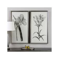sepia flower wall art