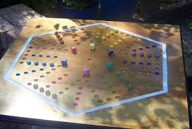 Wooden Aggravation Board Game Massive aggravation board game w marbles and dice WoodDesigner 26