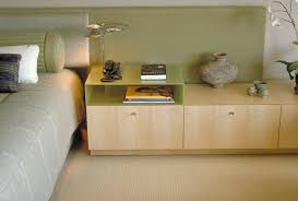 Side Table: Long White Bedside Table Arranging Wood Cabinet Table Lamp Idea  For Bedroom Design