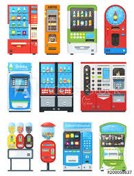 Vending Machine Background Simple Vending Machine Vector Vend Food Or Beverages With Candies And