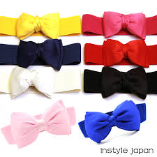 instyle an rakuten ichiba the mother s day gift which has a cute belt lady s belt black red pink yellow navy white blue ribbon large belt dress