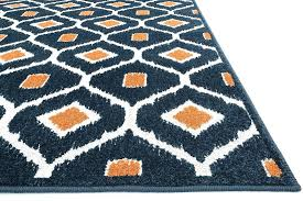 immediately blue and orange rug white chevron area rugs wonderful navy for with