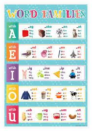 Smart Chart Word Pictorial Word Families Smart Chart Top Notch Teacher